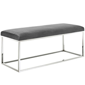 Benches - Modway EEI-2869-SLV-GRY Gaze Modern Bed Or Living Room Fabric Bench | 889654111337 | Only $259.75. Buy today at http://www.contemporaryfurniturewarehouse.com