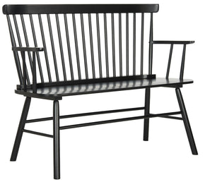 Addison Spindleback Settee Black Bench