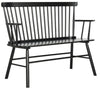 Benches - Safavieh AMH8513A Addison Spindleback Settee Black | 889048146082 | Only $285.80. Buy today at http://www.contemporaryfurniturewarehouse.com