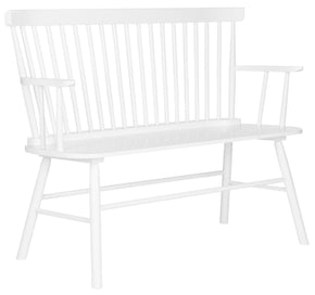 Addison Spindleback Settee White Bench