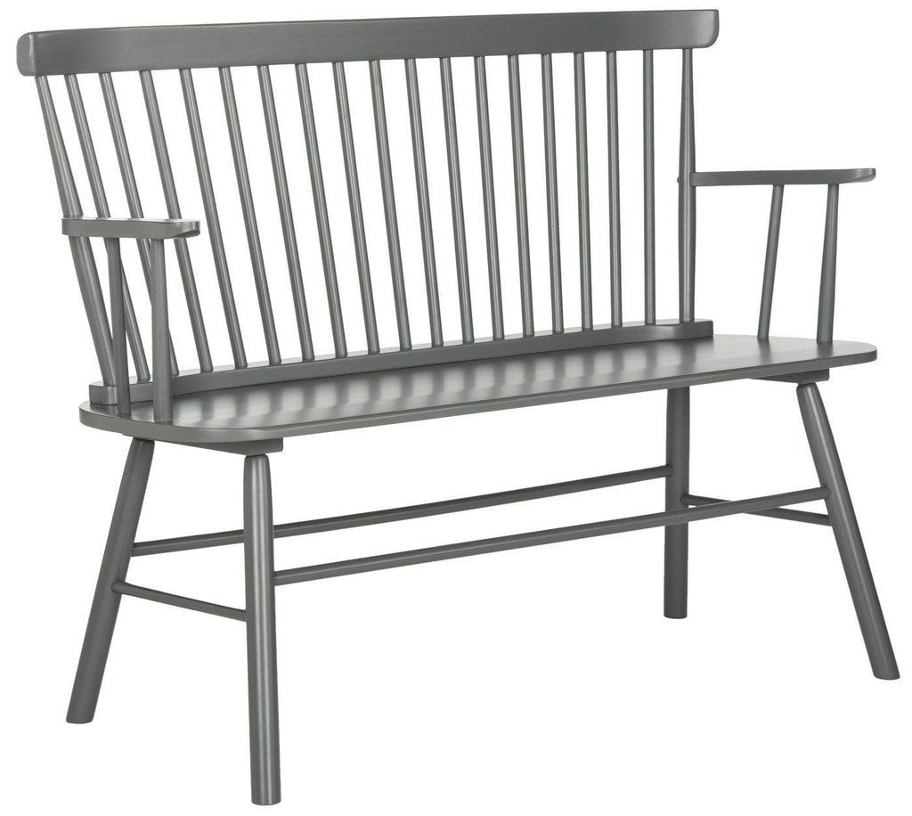 Addison Spindleback Settee Grey Bench