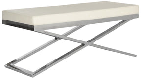 Acra Bench White / Silver