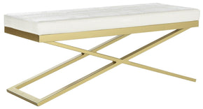 Acra Bench White / Crocodile