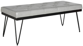 Marcella Bench Grey / Black