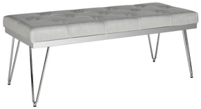 Marcella Bench Grey / Chrome