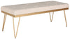 Marcella Bench Beige / Gold
