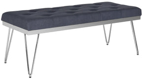 Marcella Bench Navy / Chrome