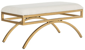 Moon Arc Bench Light Beige / Gold