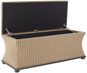 Aroura Storage Bench Brown/ Cream Tweed