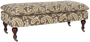 Hampton Pillowtop Bench Brown And Green