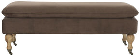 Hampton Pillowtop Bench Milk/ Chocolate
