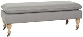Hampton Pillowtop Bench Arctic Grey