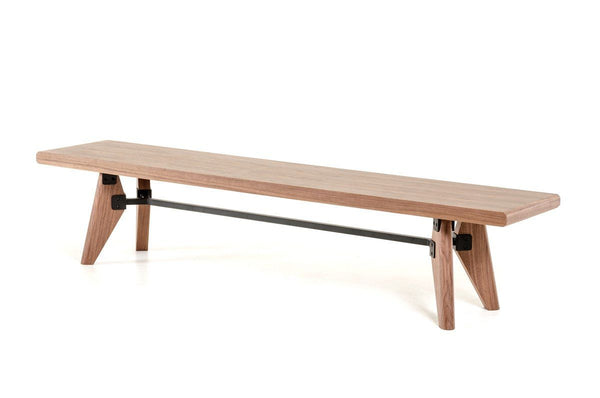 Astounding Modrest Kennedy Modern Walnut Dining Bench Gmtry Best Dining Table And Chair Ideas Images Gmtryco