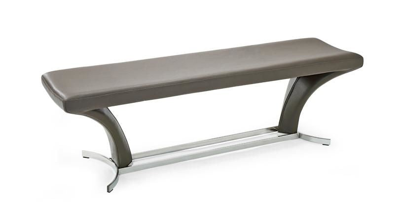 Marvelous Vig Furniture Vgvcbx1106 Gry Modrest Arvin Modern Grey Leatherette Dining Bench Sale At Contemporary Furniture Warehouse Today Only Squirreltailoven Fun Painted Chair Ideas Images Squirreltailovenorg