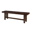 Benches - Walker Edison DBM1CNO Cappuccino Wood Bench | 812492013372 | Only $198.99. Buy today at http://www.contemporaryfurniturewarehouse.com