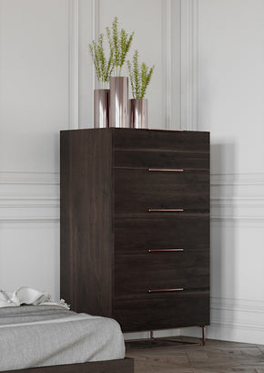 Vig Furniture VGACBENZON-CHEST Nova Domus Benzon Modern Dark Rovere Chest