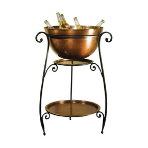 La Forge Beverage Stand Rustic,copper Beverageware