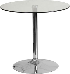 Bistro Tables - Flash Furniture CH-7-GG 31.5'' Round Glass Table with 29''H Chrome Base | 889142054061 | Only $114.80. Buy today at http://www.contemporaryfurniturewarehouse.com
