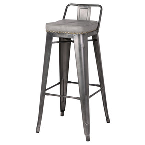 Bar Chairs - New Pacific Direct 9300031-239 Metropolis Low Back Bar Stool (Set of 4) Vintage Mist Gray | 842587121880 | Only $299.80. Buy today at http://www.contemporaryfurniturewarehouse.com