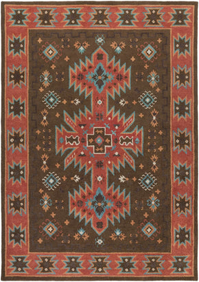 Arizona Southwest Area Rug Brown Red