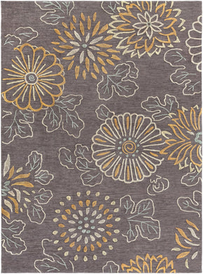 Ameila Floral And Paisley Area Rug Gray