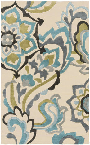 Cosmopolitan Floral And Paisley Area Rug Blue