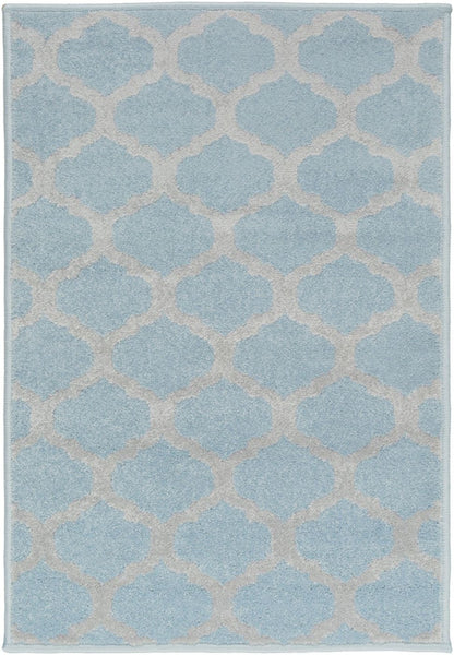 Horizon Geometric Area Rug Blue