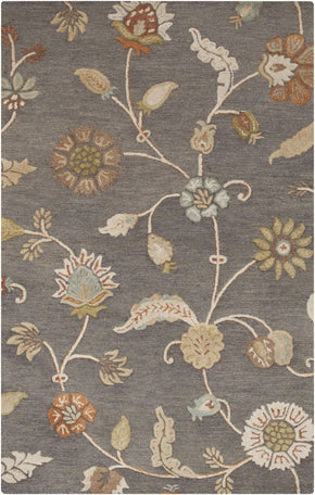 Sprout Floral And Paisley Area Rug Gray