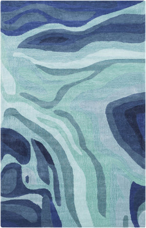 Pigments Area Rug Blue Green