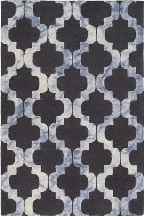 Black & Greys, Blues, Greens, Multi, Rugs - Surya SRF2007-23 Serafina Geometric Area Rug Black | 888473115533 | Only $79.80. Buy today at http://www.contemporaryfurniturewarehouse.com