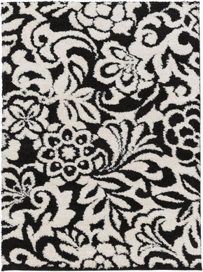 Swift Floral And Paisley Area Rug Black
