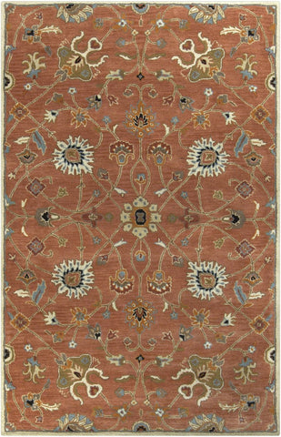 Black & Greys, Blues, Oranges, Rugs, Tan & Neutrals, Traditional - Surya CAE1119-1014 Caesar Classic Area Rug Orange | 764262935707 | Only $2052.00. Buy today at http://www.contemporaryfurniturewarehouse.com
