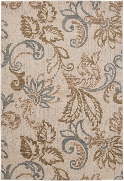 Riley Floral And Paisley Area Rug Neutral Brown
