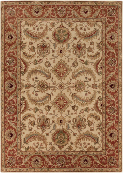 Ancient Treasures Classic Area Rug Red Neutral