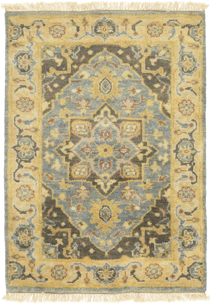Antique Classic Area Rug Blue Yellow