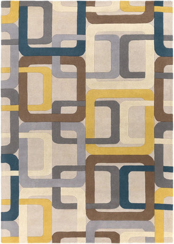 Forum Geometric Area Rug Green Gray