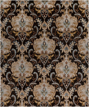 Black & Greys, Browns, Greens, Rugs, Tan & Neutrals - Surya AUR1000-23 Aurora Floral and Paisley Area Rug Black | 764262397130 | Only $97.80. Buy today at http://www.contemporaryfurniturewarehouse.com
