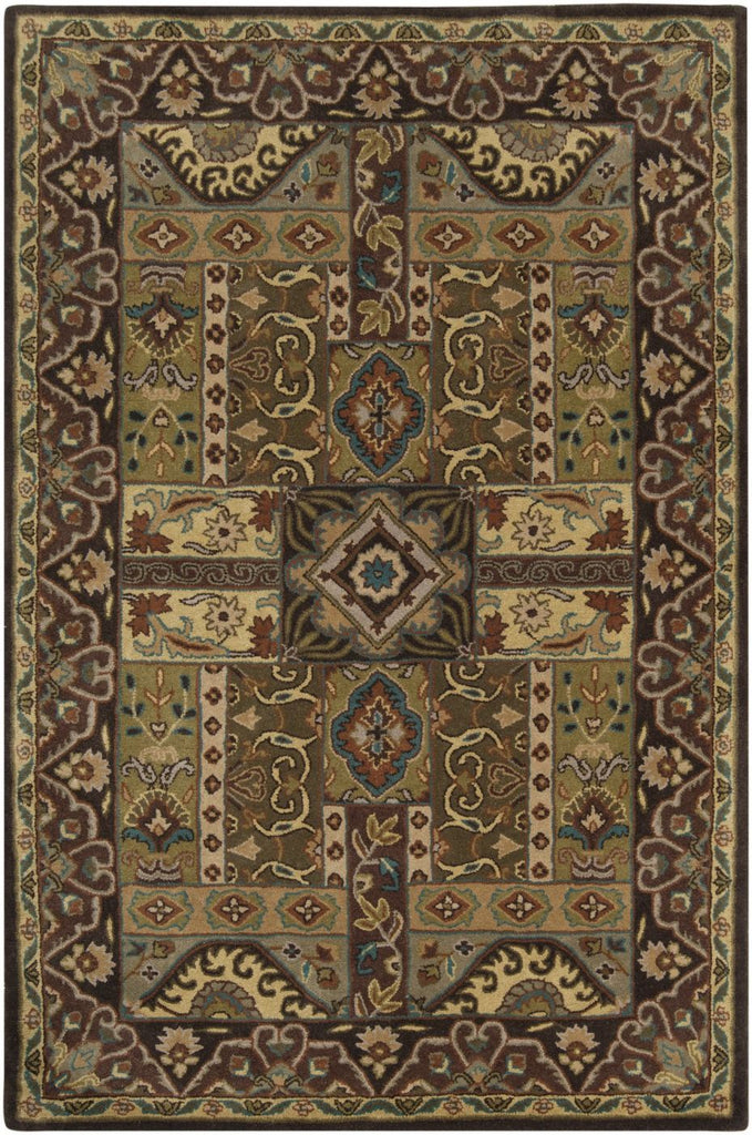 Black & Greys, Browns, Greens, Rugs, Tan & Neutrals, Traditional - Surya CAE1048-23 Caesar Classic Area Rug Green | 764262423532 | Only $89.40. Buy today at http://www.contemporaryfurniturewarehouse.com
