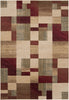 Riley Area Rug Red Brown