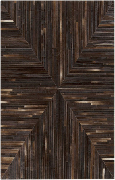 Appalachian Hides And Leather Area Rug Black Brown