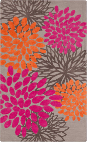 Abigail Kids Area Rug Orange Pink 5' X 8'