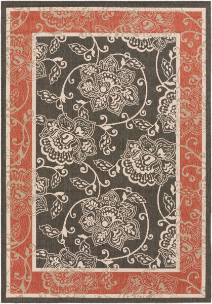 Alfresco Area Rug Red Black