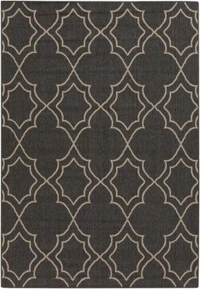 Black & Greys, Contemporary, Indoor/Outdoor, Rugs, Tan & Neutrals - Surya ALF9590-23119 Alfresco Area Rug Black | 764262737028 | Only $43.80. Buy today at http://www.contemporaryfurniturewarehouse.com