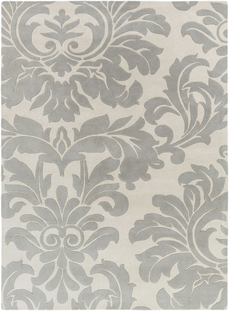 Black & Greys, Contemporary, Ivory & Whites, Rugs - Surya ATH5073-23 Athena Medallion and Damasks Area Rug Gray | 764262712810 | Only $89.40. Buy today at http://www.contemporaryfurniturewarehouse.com