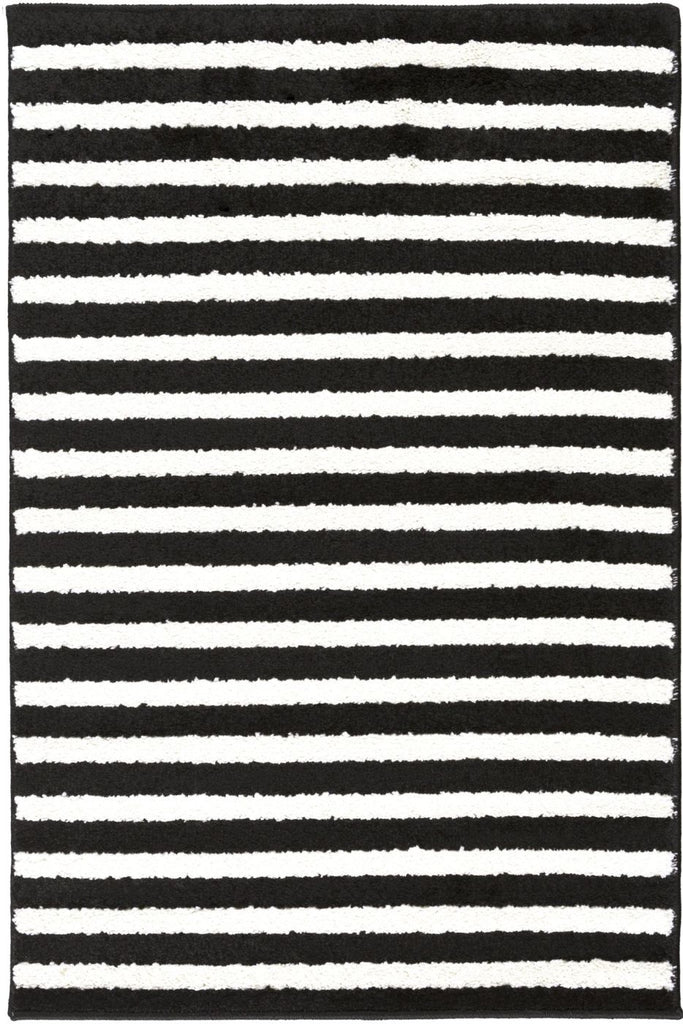 Horizon Stripes Area Rug Black
