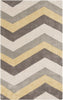 Cosmopolitan Geometric Area Rug Yellow Gray