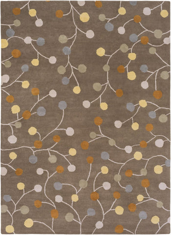 Athena Floral And Paisley Area Rug Gray Yellow