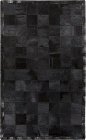 Vegas Hides And Leather Area Rug Black