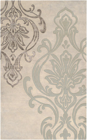 Modern Classics Medallion And Damasks Area Rug Neutral Gray