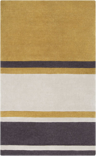 Cosmopolitan Stripes Area Rug Yellow Gray